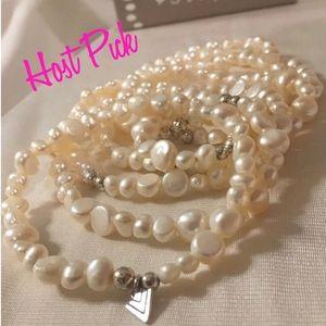 💕HP💕2-19🎉Silpada 7 Freshwater Pearl  Bracelets